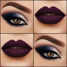 makigiaz-mov-skouro-kragion Suggestions makeup with dark lipstick