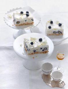 Rezept: Milchreis-Blaubeer-Schnitten