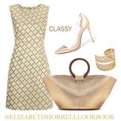 LIZ by elizabethhorrell on Polyvore featuring moda, Diane Von Furstenberg, Gianvito Rossi, The Row and Rebecca Minkoff