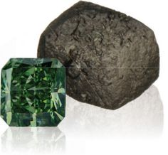 Pure green diamonds are extremely rare and highly valued, ranging from light mint greens to vivid grass greens. Only a handful of natural green diamonds are introduced into the market each year making green diamonds some of the most sought after of all natural color diamonds.