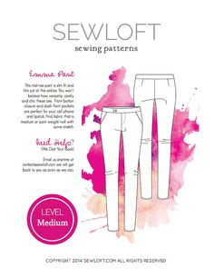 Womens Downloadable PDF Sewloft Sewing Pattern Emma by Sewloft, $8.00