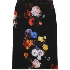 Dolce & Gabbana Floral-print stretch-crepe skirt found on Polyvore