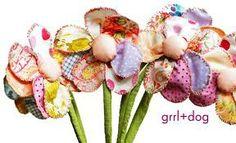 fabric flowers pinterest - Buscar con Google