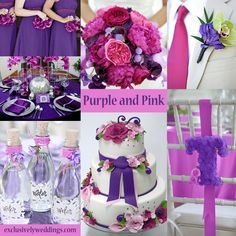 Purple and Pink Wedding Colors | #exclusivelyweddings