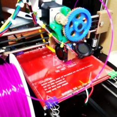 거의 자리 잡음. 다 잘 작동함. 이제  #3dprint #3dprinter #3dprinting #dプリンター #reprap #3d #purple #3d프린터 #arduino #mega #고2  #아두이노 #stl by icaynia