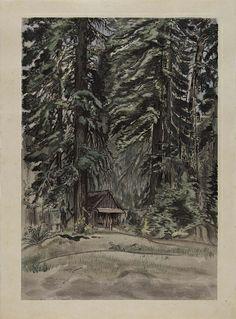 Evening at Carl Inn (progressive proof No.130) by Chiura Obata / American Art