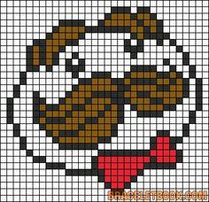 Pringles chips logo perler bead pattern