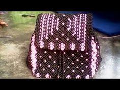 Tutorial Lengkap Tas Ransel Dari Tali Kur - Full Making Of Macrame Backpack Bag - YouTube Macrame Bag, Macrame Knots, Micro Macrame, Macrame Tutorial, Crochet Videos, New Bag, Backpack Bags, Handicraft, Purses And Bags
