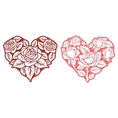 Heart Roses Cuttable Design Cut File. Vector, Clipart, Digital Scrapbooking Download, Available in JPEG, PDF, EPS, DXF and SVG. Works with Cricut, Design Space, Cuts A Lot, Make the Cut!, Inkscape, CorelDraw, Adobe Illustrator, Silhouette Cameo, Brother ScanNCut and other software.
