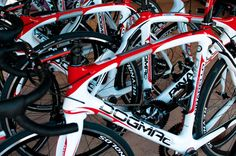 The Pinarello Dogma2 bikes with Sram Red, 3t components and Reynolds wheels