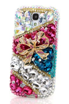 Pretty Present Design Samsung Galaxy s4 cases luxury mobile phone cover accessories for women's fashion