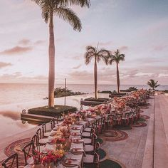 Photo by Luxury Wedding & Event Planner on July 17, 2020. Image may contain: 1 person, sky, ocean, tree, table and outdoor Wedding Event Planner, Wedding Events, Beautiful Wedding Venues, Luxury Wedding, Got Married, Wedding Planer