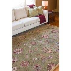 Hand-tufted Augusta Wool Rug (8' x 11') | Overstock™ Shopping - Great Deals on 7x9 - 10x14 Rugs
