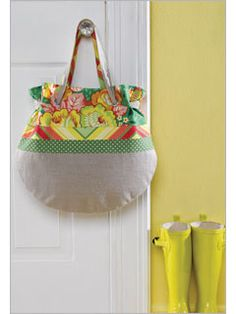 Spring Tote. Sewing pattern.