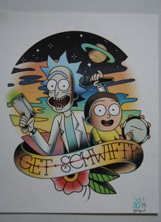 Rick and Morty inspired print by BosWorkshop on Etsy