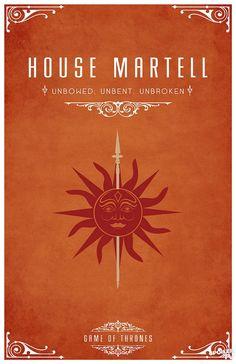 House Martell of Dorne. Game of Thrones house sigils by Tom Gateley. http://www.flickr.com/photos/liquidsouldesign/sets/72157627410677518/