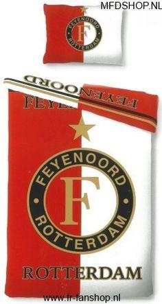 FEYENOORD: Dekbed overtrekset Feyenoord Rotterdam Rood-Wit