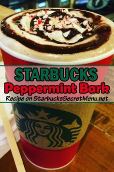Try our super simple and delicious Starbucks Peppermint Bark! Have it hot, cold, as a Frappuccino or hot chocolate! ‪#‎StarbucksSecretMenu‬