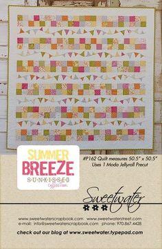 Summer Breeze Pattern  Download by sweetwaterscrapbook on Etsy, $8.00