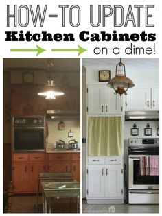 How To Update Kitchen Cabinet Doors On A Dime!  This  blogger removed the cabinet doors, attached strips of plywood to the doors, then repainted.  This is a great way to update your kitchen & save $$$!