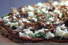 Pesto Caramelised Onion Pizza