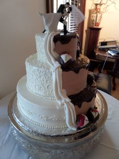Mickey Mouse Wedding Cake by Confectionate Cakes Raleigh NC