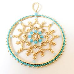 A personal favorite from my Etsy shop https://www.etsy.com/listing/481873831/christmas-ornaments-snowflake-ornament