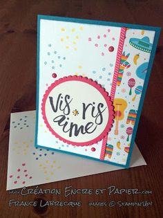 Stampin'Up! Carte Amitié / Friendship Card Étampes Bonne Couche d'amour Layering Love Stamp Set www.creationencreetpapier.com