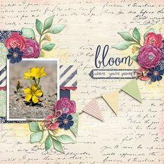 Kit: The Cottage Garden Designer: Alexis Design Studio Font: Indie Flower Regular