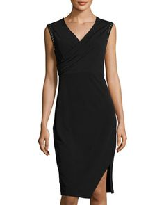 Harley+Jewel-Embellished+Dress,+Black+by+T+Tahari+at+Neiman+Marcus+Last+Call.