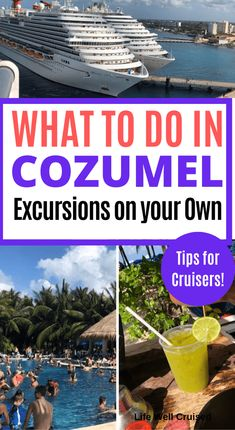 21 Most Recommended Things to Do in Cozumel - Life Well Cruised There's so much to see and do in Cozumel. This extensive list of 21 most recommended activities, is perfect to help cruisers plan for a great day in port. Best Cruise, Cruise Port, Cruise Travel, Cruise Vacation, Shopping Travel, Cruise Packing, Beach Travel, Best Carnival Cruise Ship, Disney Cruise