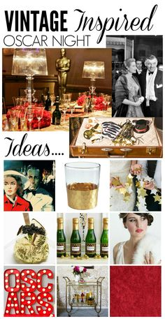 Great ideas for a vintage inspired Oscar Party. You don't have to throw a huge party to have a vintage inspired Oscar party. These ideas are great for a Eid Party, Birthday Party Themes, Party Props, Party Ideas, Hollywood Party Decorations, Oscar Night, Champagne Party, Happy Party, Movie Party