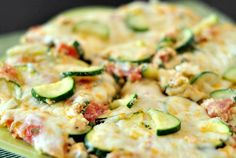 GF Light vegetarian frittata with zucchini and tomatoes