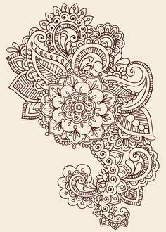 Paisley Henna Tattoo Design Henna Flower Tattoo Designs