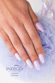 Gel Brush Lavender according to Paulina Walaszczyk Indigo Educator Łódź :) More inspiration you can find at www.indigo-nails.com #nailart #nails #violet #apastel #lavender