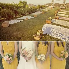there is no way i could make my wedding this small, but i LOVE the picnic wedding idea!  so cute!:))