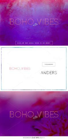 Boho Vibes Premade Logo by Coral Antler Creative on @creativemarket