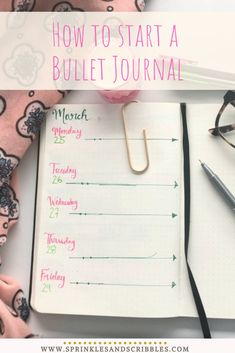 A short and simple guide to starting your bullet journal journey, plus keys to making the system that works for you! Read on to find 3 simple steps on how to start a bullet journal Down Quotes, Bullet Journal Aesthetic, Bullet Journal How To Start A, The Wiggles, Cute Notebooks, Business Education, Write It Down, Pen And Paper, Scribble