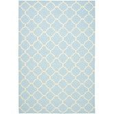 Found it at Wayfair - Dhurries Light Blue/Ivory Checked Rug