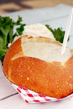 Seafood chowder in bread bowl recipes