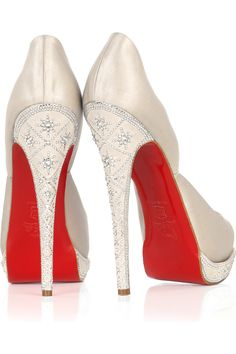 Christian LouboutinEugenie satin pumps /drool