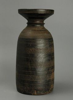 Vintage 1930's Nigerian carved wooden vessel
