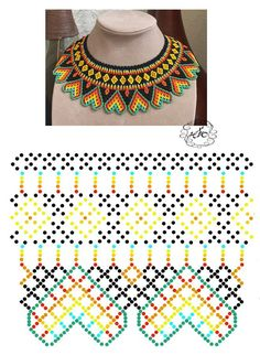 seed bead necklace patterns for beginners Seed Bead Bracelets Tutorials, Beaded Bracelets Tutorial, Beading Tutorials, Brick Stitch Patterns, Seed Bead Patterns, Beading Patterns, Diy Necklace Patterns, Beaded Bracelet Patterns, Bead Jewellery