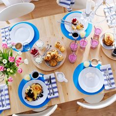 Ikea, Shower Party, Table Settings, Sweet Home, Table Decorations, Instagram Posts, Navy Blue, Food, Home Decor