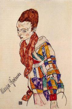 Egon Schiele * Portrait of Marga Boerner, 1917
