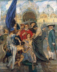 monsieurleprince: Ettore Tito (1859 - 1941) - The Venetians masters, 1937