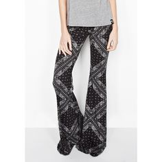 Michael Lauren's signature Mars Bell Pant is featured here in a black bandana…