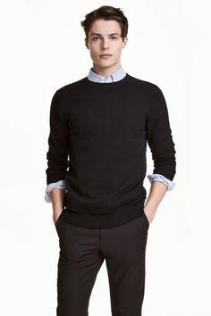 Jemně pletený bavlněný svetr