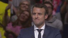 New party member! Tags: wink meeting mimique winking emmanuel macron clin d'oeil oeil