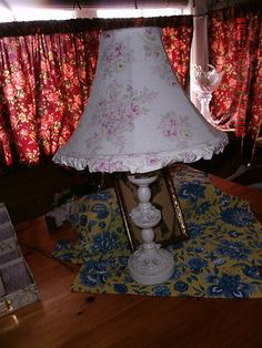 RACHEL ASHWELL SIMPLY SHABBY CHIC BLUSH BEAUTY ROSEBLOSSOM LAMP SHADE & LAMP